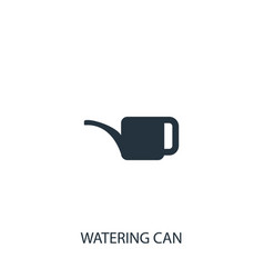 Watering can icon simple gardening element vector