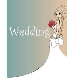 wedding background vector image