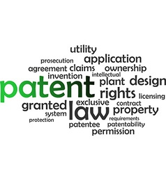 Word cloud patent vector