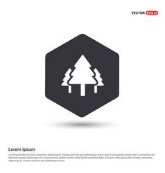 X-mas tree icon hexa white background icon vector