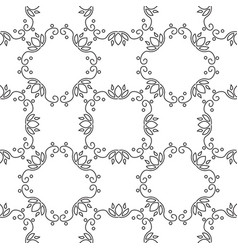 geometrical pattern flower vector image vector image