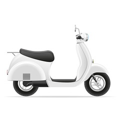 retro scooter 01 vector image vector image
