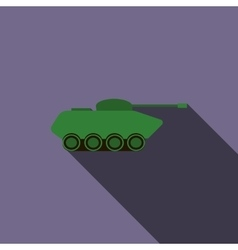 Tank icon in flat style vector image