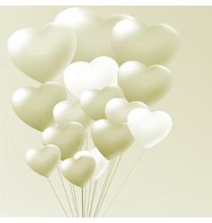 Elegant balloons heart valentines day EPS 8 vector image