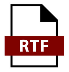 file name extension rtf type vector image