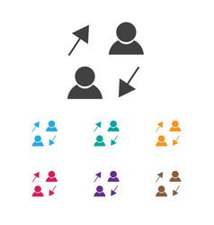 of job symbol on sharing icon vector image