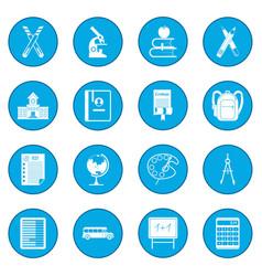 school icon blue vector image