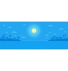 Summer blue flat background vector image