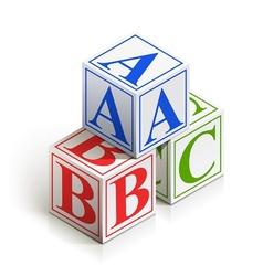 brick abc vector image