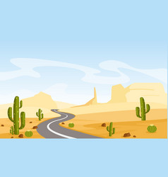 desert landscape with vector image vector image