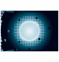 digital glowing sphere vector image vector image