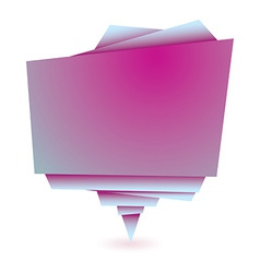 Origami pink element vector image vector image