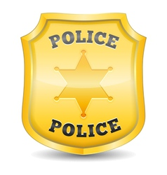 Police Badge vector image vector image