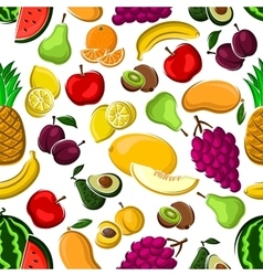 Sweet and juicy fruits seamless pattern vector image vector image