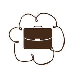 cloud network service icon vector image