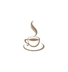 coffee cup cafe logo vector image
