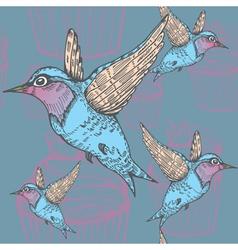 hummingbirds pattern vector image vector image