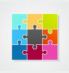 puzzle frame template design element vector image