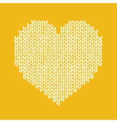 seamless background with knitted heart Romantic vector image