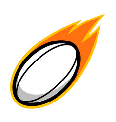 sport ball fire rugby vector image vector image
