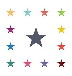 star flat icons set vector image
