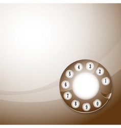 telephone disk background vector image