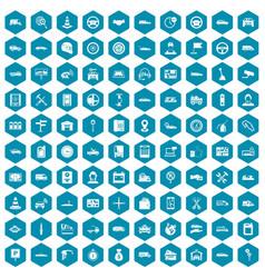 100 auto icons sapphirine violet vector image