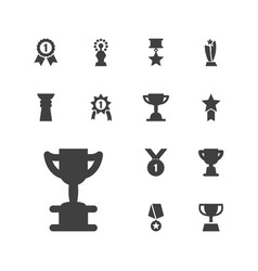 13 contest icons vector