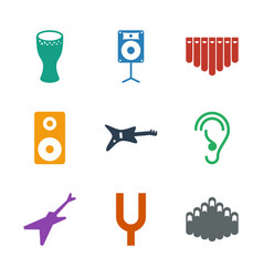 9 acoustic icons vector