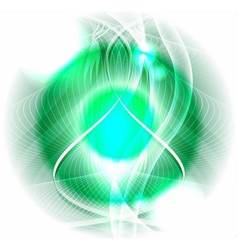Abstract green circle background vector