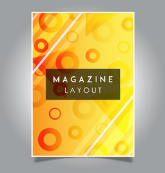 abstract magazine layout template designs vector image