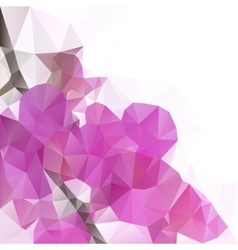 abstract orchid flower vector image