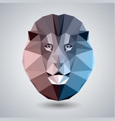 Abstract polygonal tirangle animal lion hipster vector