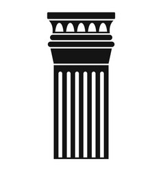 ancient pillar icon simple style vector image