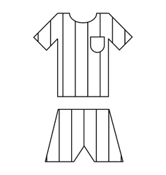 Argentina soccer team uniform icon outline style vector