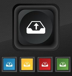 Backup icon symbol Set of five colorful stylish vector image