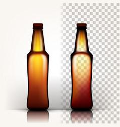 beer bottle empty glass for craft beer vector image
