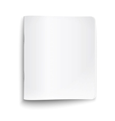 Blank closed copybook on white background vector image