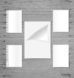 Blank white paper note paper envelope vector