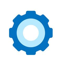 Blue pictogram gear icon simple flat design flat vector