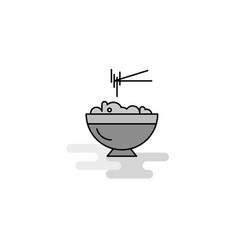 bowl web icon flat line filled gray icon vector image