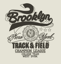 Brooklyn t-shirt graphics new york athletic vector