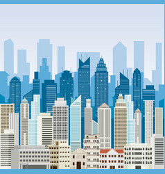 Buildings and skyscrapers background vector