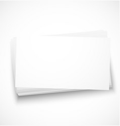Business cards with shadow template vector image