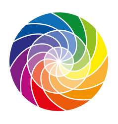 Color wheel or color circle with twelve colors vector