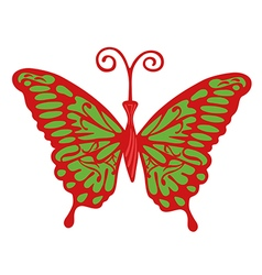 Colored butterfly logo vector image