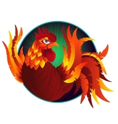 colorful cartoon rooster symbol 2017 year by vector image