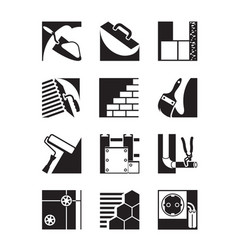 Construction activities and services vector