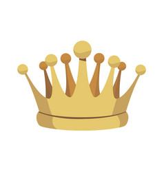 Crown treasure kingdom majestic luxury icon vector