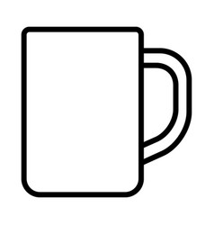 Cup or mug with handle for drinking icon vector